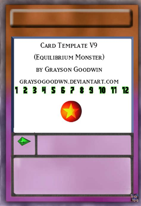 monsters student card template yu gi oh card template v9 equilibrium by