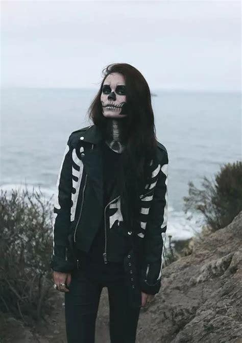 Jaket Sweater Pria Lengan Panjang Nike Logo Leather Black fashion wanita baru jaket tengkorak kerangka cetak berdiri
