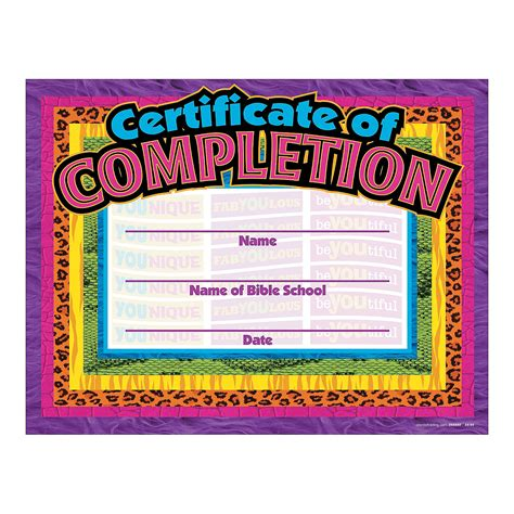 free vbs certificate templates wonders vbs completion certificates novelty awards