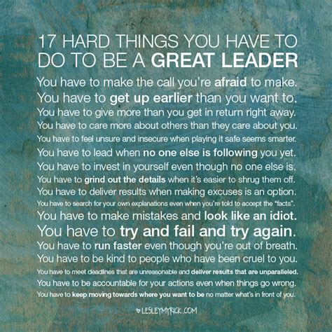 what does being a becoming a leader quotes quotesgram