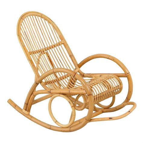 chaise rockincher rocking chair madih pour adulte en rotin achat vente