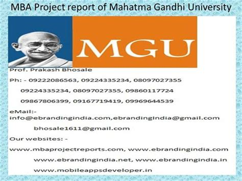 Project Management Ppt For Mba by Mba Project Report Of Mahatma Gandhi Authorstream
