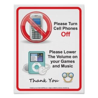 items similar to please turn off your cell phones ceremony sign