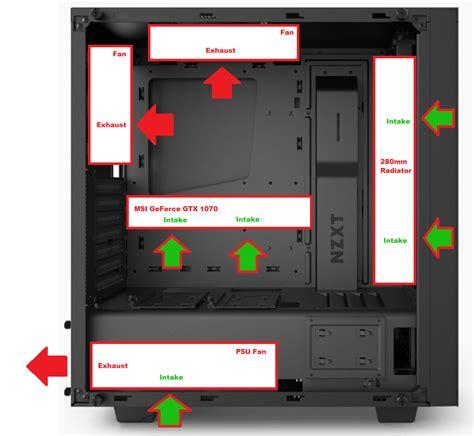 nzxt s340 fans pc fan setup nzxt s340 elite air cooling linus tech tips