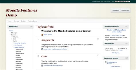 template moodle getting started course templates moodle news
