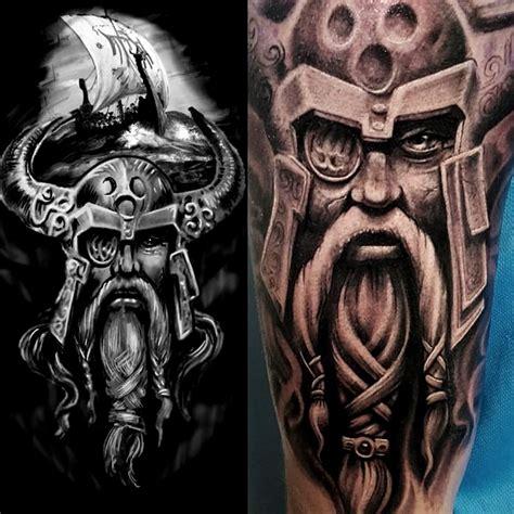 viking longboat tattoo matt parkin certified artist