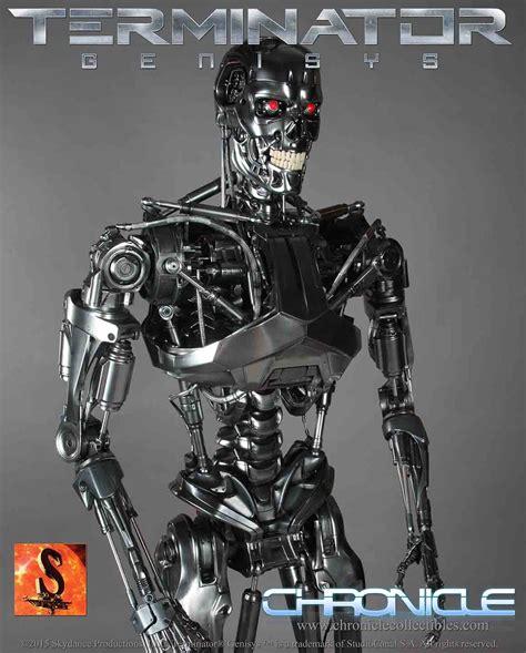 endoskeleton terminator genisys  scale statue