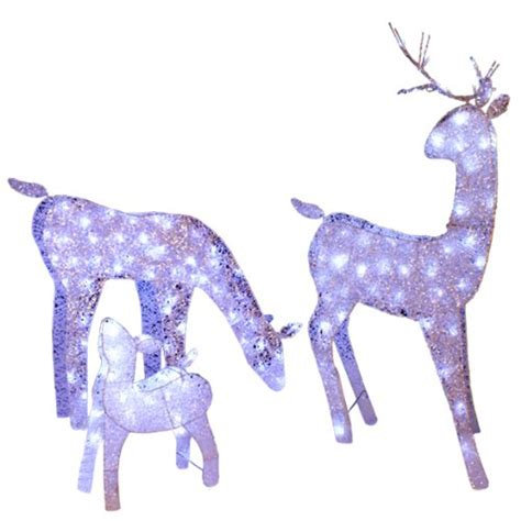 lighted deer family 3 piece set outdoor christmas decorations deer