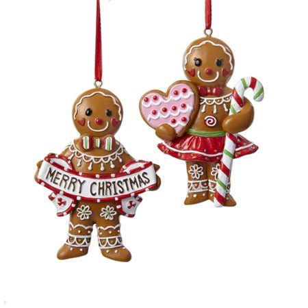 gingerbread ornament out of brown paper 3 5 quot gingerbread kisses brown cookie with decorative ornament walmart