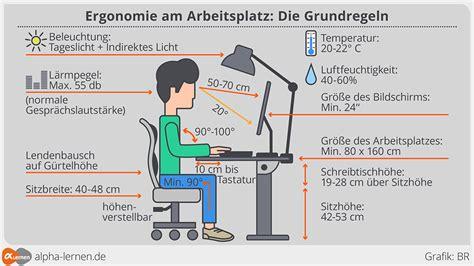 ergonomie am arbeitsplatz beleuchtung alpha lernen infografik ergonomie am arbeitsplatz