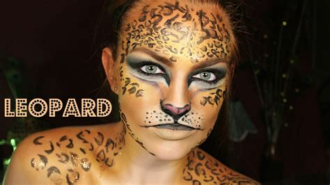 leopard makeup tutorial leopard face paint makeup tutorial mugeek vidalondon