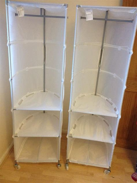Ikea Canvas Wardrobe by Ikea Swivel Canvas Wardrobes With Shelves 163 7 Each In Llanrumney Cardiff Gumtree
