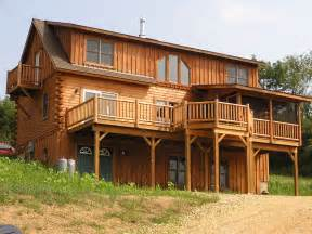 two story log homes two story with walk out basement 2008