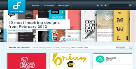 design inspiration gallery 10 best web design galleries for your design inspiration