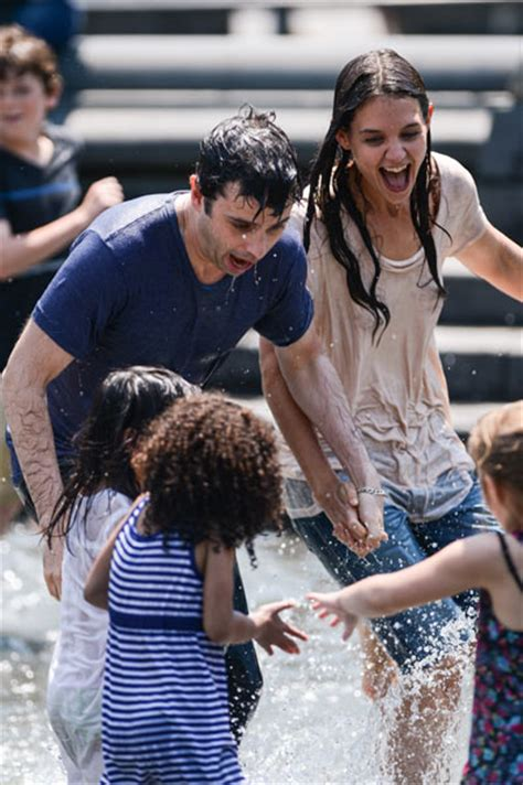 film love katie katie holmes picture of love in soaking wet fountain scene