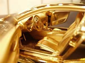 Gold Plated Bugatti Price 24k Gold Bugatti Veyron Scale Model Costs More Than The Car