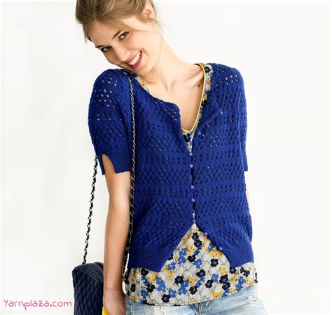 stricken sommer summer cardigan free knitting pattern yarnplaza