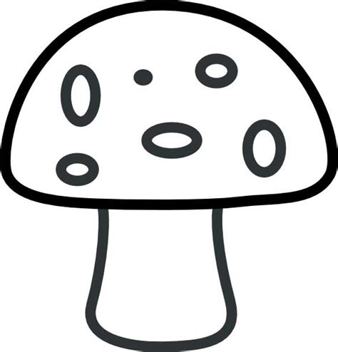 mushroom coloring page for kids free printable picture