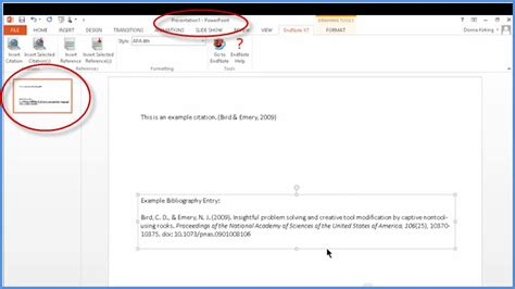 reference books in the library ppt add citations to powerpoint slides with endnote x7