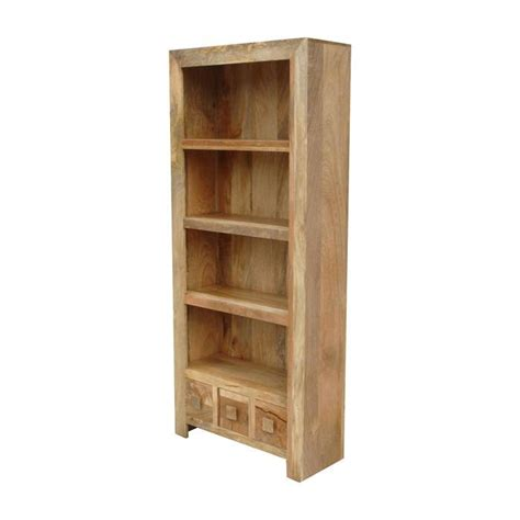 Mango Wood Bookshelf mango wood light bookcase quarter solid wood furniture