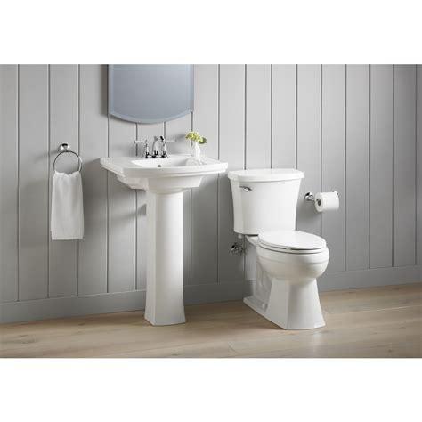 kohler elliston pedestal sink shop kohler elliston 19 87 in l x 23 75 in w white