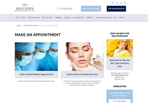 Balcones Dermatology Website Portfolio Austin Web And Design Dermatologist Website Templates