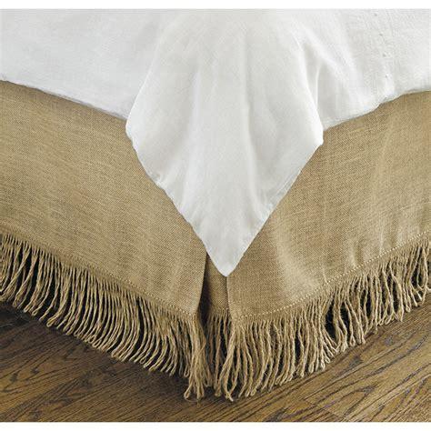 fringe bed skirt fringed burlap bedskirt ballard designs