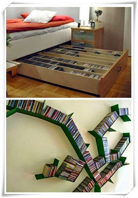 cool storage ideas ideas for storing 1000 dvds in super small apartment cool