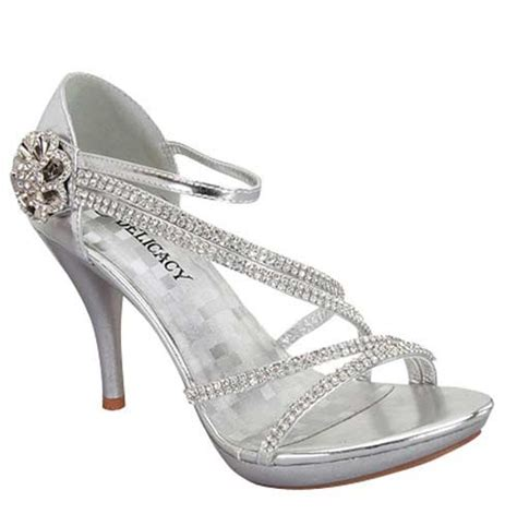 2017 cheap silver rhinestone shoes 30