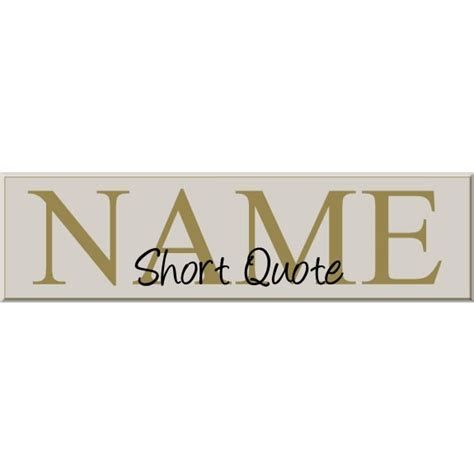 family name sign with quotes last name family signs