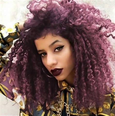 hair color for curly hair 50 bewitching violet hair color ideas magical