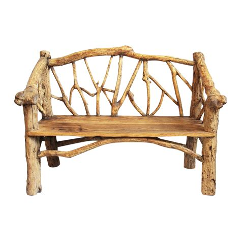rustic log bench rustic log bench chairish