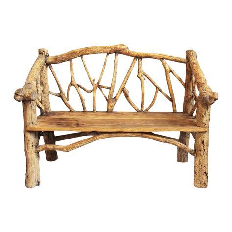 rustic log benches rustic log bench chairish