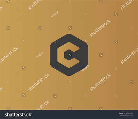 universal pattern en français abstract letter c logo design template stock vector
