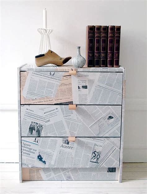 newspaper decoupage furniture technique my desired home