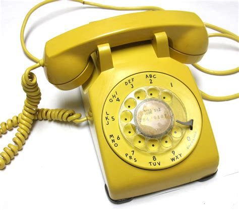 Bell Phone bell golden yellow rotary telephone 1962 vintage phone