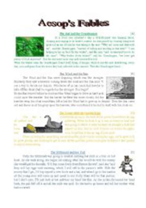 Aesop S Fables Worksheets by Worksheet Aesop Fables