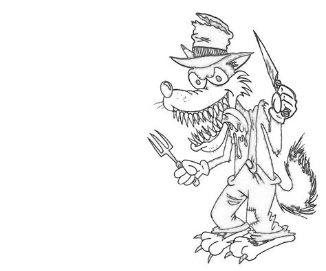 coloring page of big bad wolf free coloring pages of big bad wolf