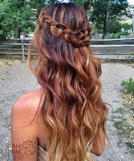 cute homecoming hairstyles long hair cute prom hairstyles for long hair 2016