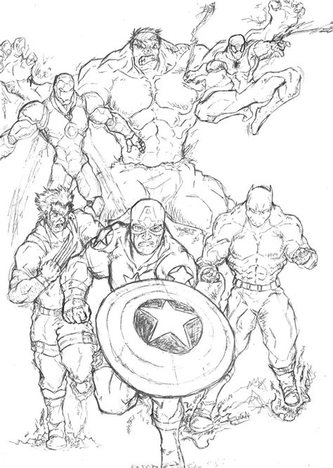coloring page of a superhero superhero coloring pages coloring pages and marvel on
