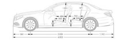 Mercedes E350 Dimensions Mercedes E Class Saloon Dimensions