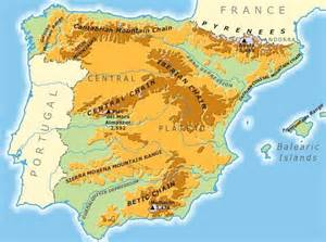mountain ranges map nature of the cantabrian mountains spain