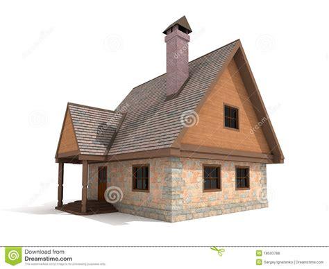 white stone house two storey stone house on white background royalty free