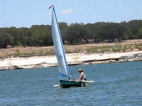 homemade sailing canoe youtube