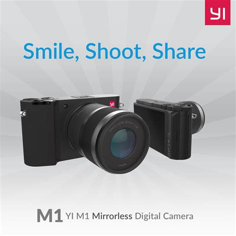 interchangeable lens yi m1 4k 20 mp mirrorless digital with