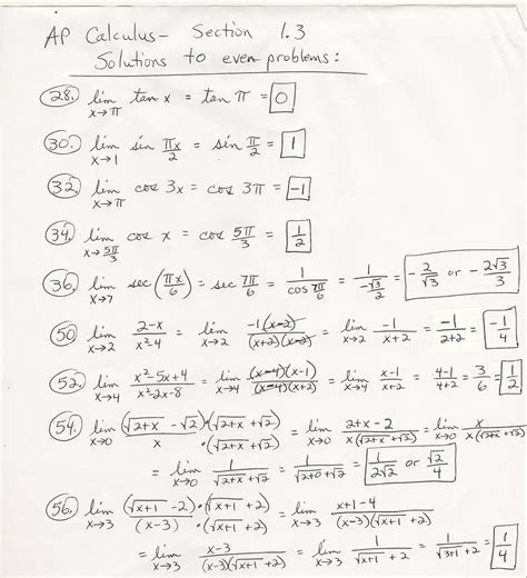 ap calculus ab section 1 part a answers calculus instruction skapa ru