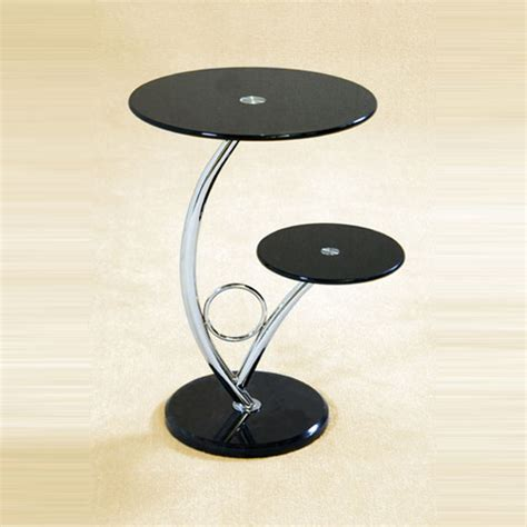 Black Glass Side Table Hawaii Black Glass End Side Table Ebay