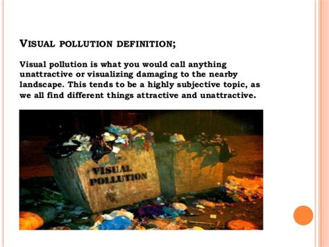 Visual Landscape Definition Environmental Pollution Wwwwwwwwwwwwwwwwwwww