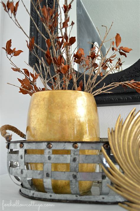 nicole miller home decor budget friendly fall decorating ideas mixed metals fox