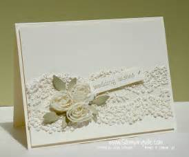 floral lace wedding card